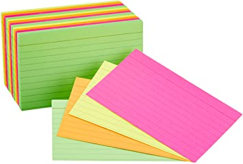 a package of multi-color 3x5 cards