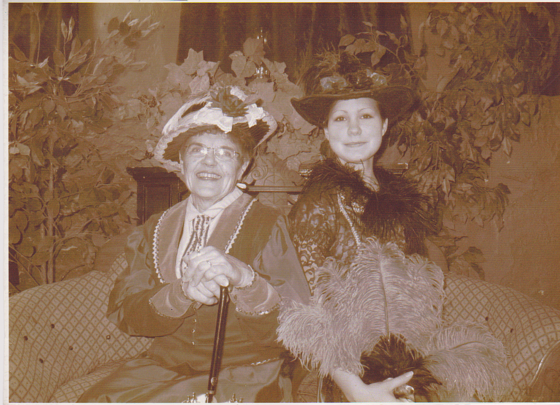vintage photo of older woman and exchange student