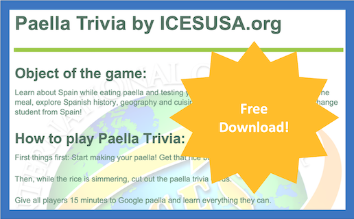 paella trivia game to download from international cultural exchange services