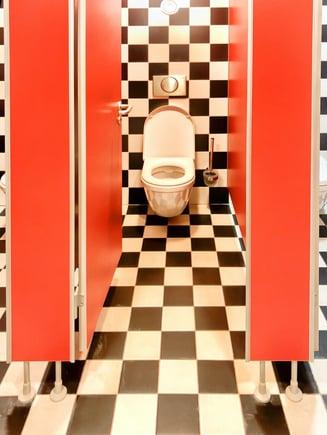 public bathroom stall
