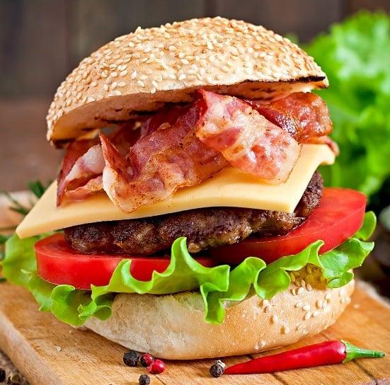 huge bacon burger