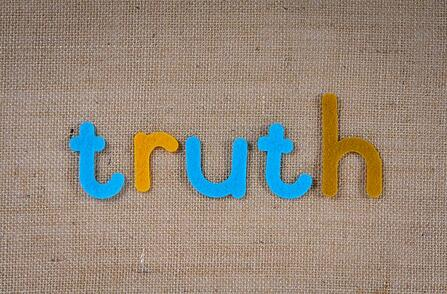 cloth with the word truth embroidered