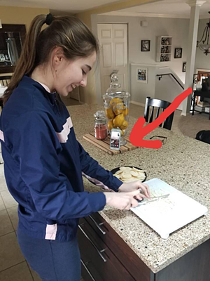 girl chopping onions