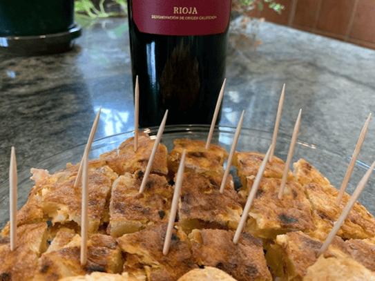 bite-size Spanish omelette
