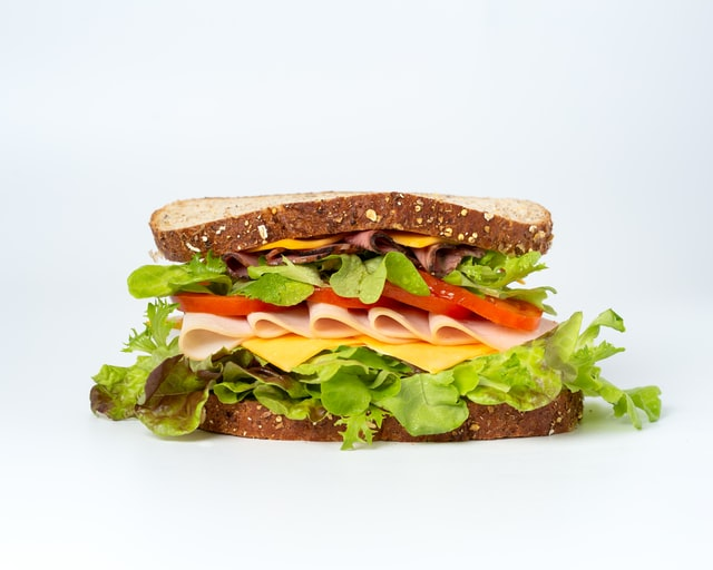 ham and cheese sandwich with lettuce