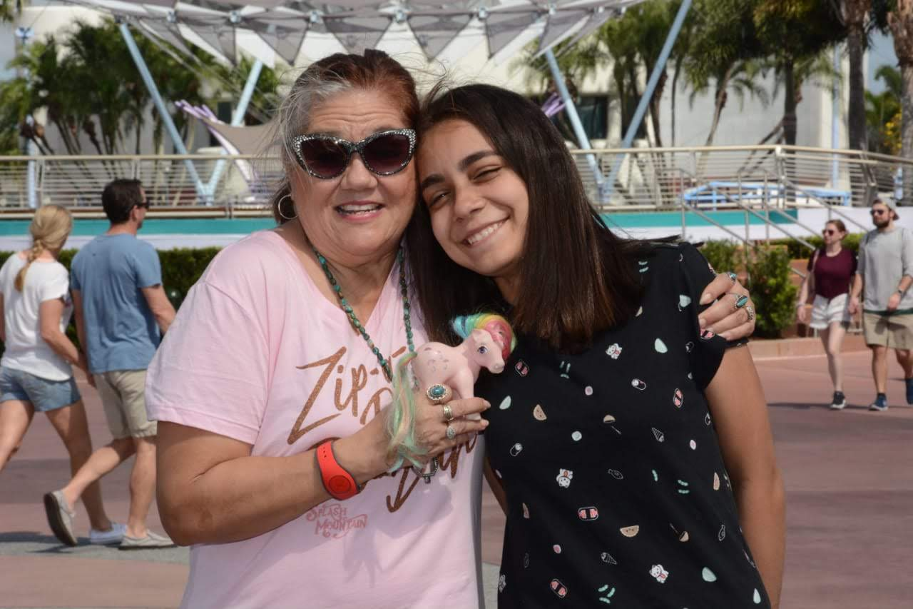 mother and daughter at Disney World