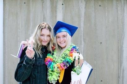 graduate and friend