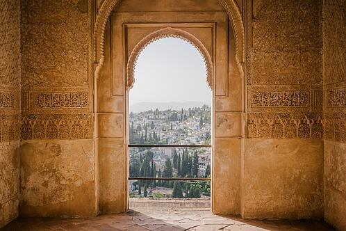 view from the Alhambra in Granada
